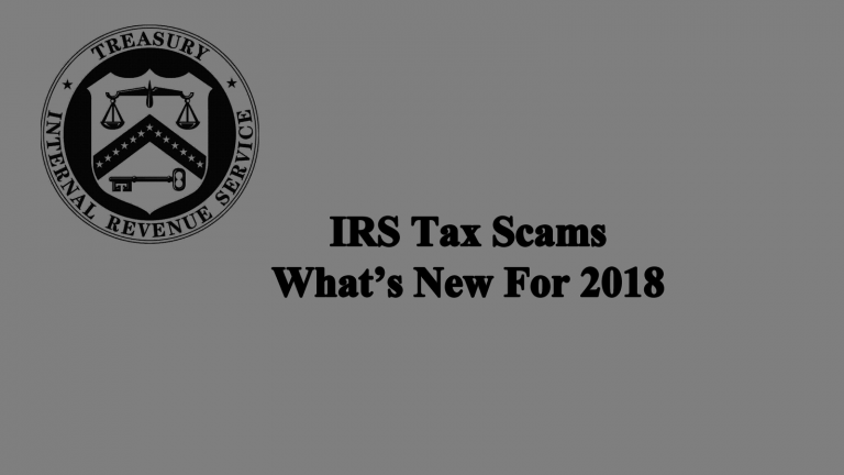 Tax Scam - New For This Year