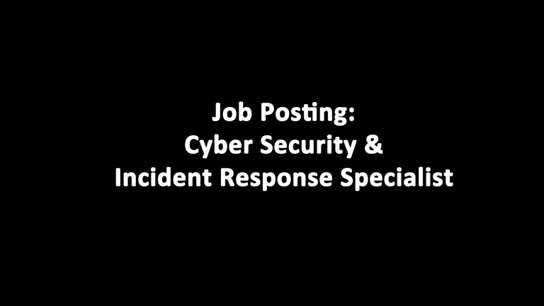 Cyber Security and Incident Response Specialist