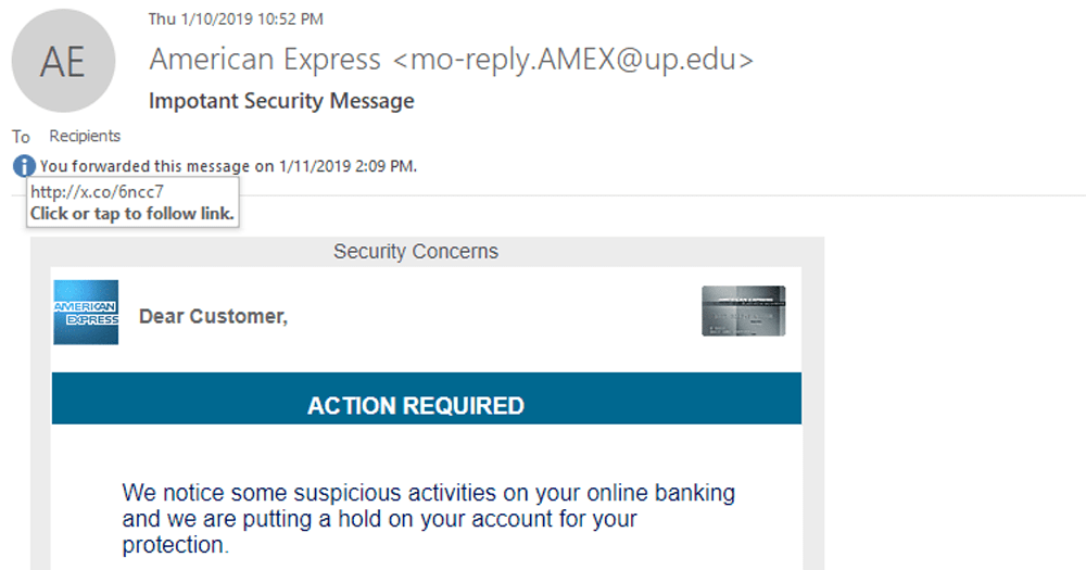Fake Email Content