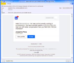 LinkedIn Fake job Message