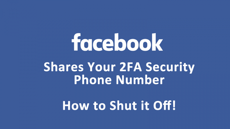 Facebook 2FA Phone Number Sharing