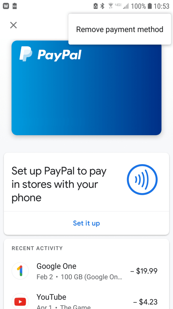 Google Pay App Screenshot