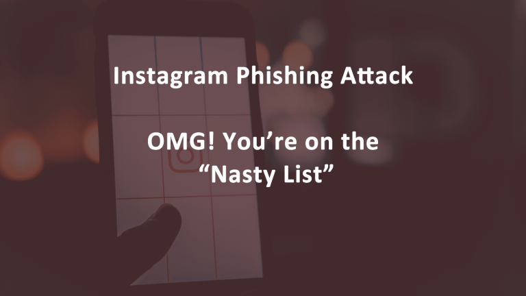 Instagram Phishing Nasty Lis