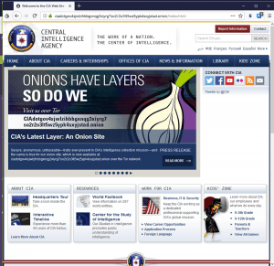 CIA Tor Onion Website