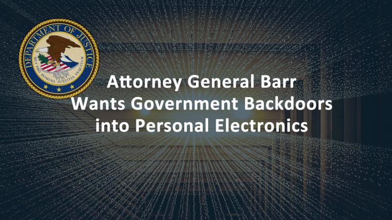 Governmnet Backdoors Electronics
