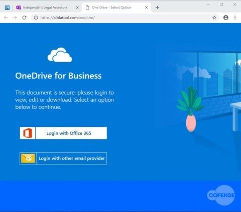 SharePoint Phishing Page