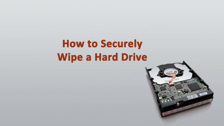 Securely Wipe Hard Drive