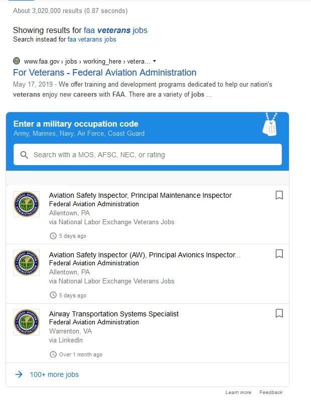 FAA Google Search