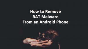 RAT Malware Android Phone