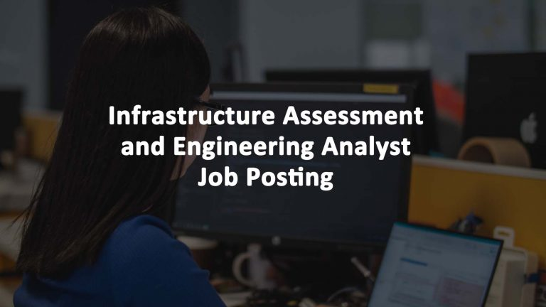Infrastructure Assessment Engineering Analyst