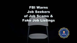 FBI Warns of Job Scams