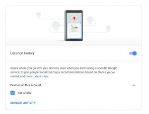 Google Location History Control