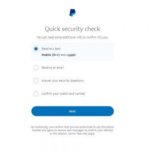 paypal com account login Forgot Password 2FA