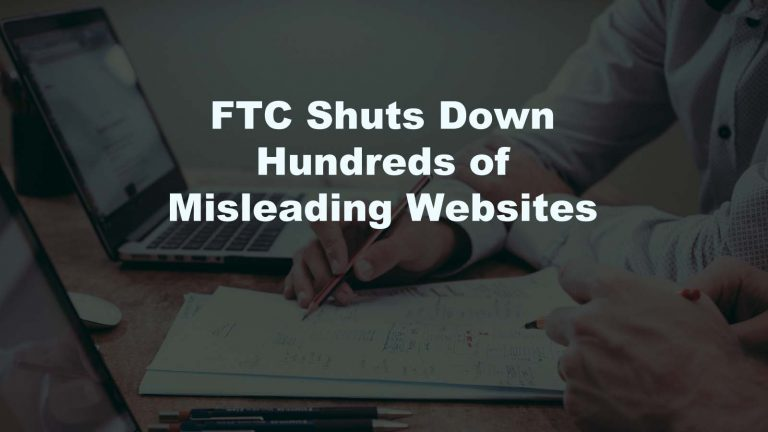 FTC Shuts Down Websites