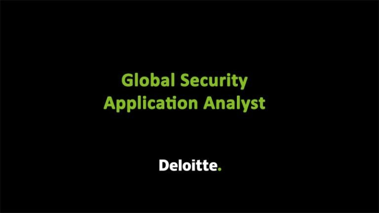 Global Sec Analyst Deloitte