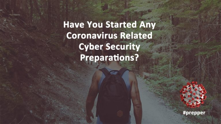 Coronavirus Cyber Security Prepper