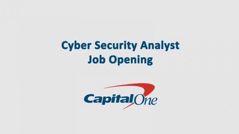 Cyber Security Analyist Capitol One