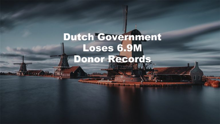 Dutch Government Loses Donor Records