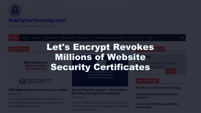 Lets Encrypt Revokes Certificates