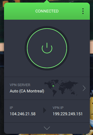 Private Internet Access VPN Connected