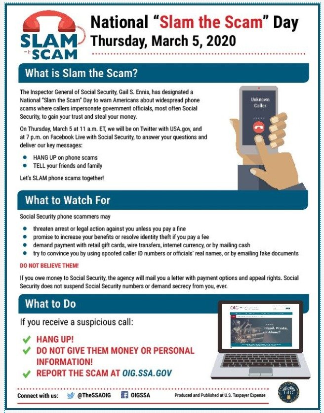 SSA Slam the Scam