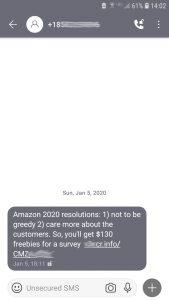 Spam Text Messaging Signal