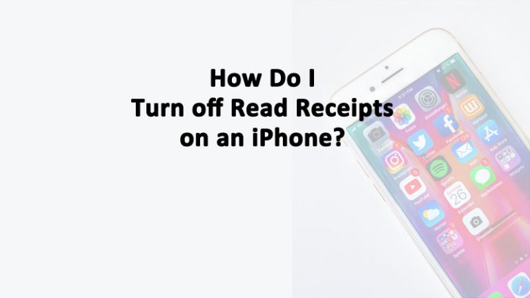 Turn Off Read Receipts iPhone