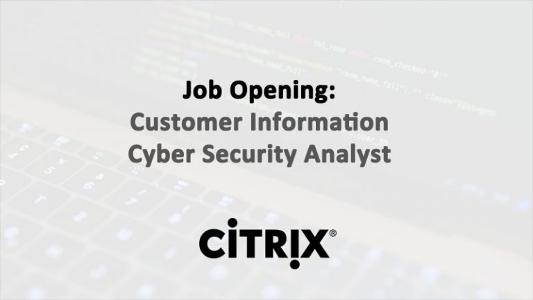 Customer Information Cyber Security Analyst - Citrix