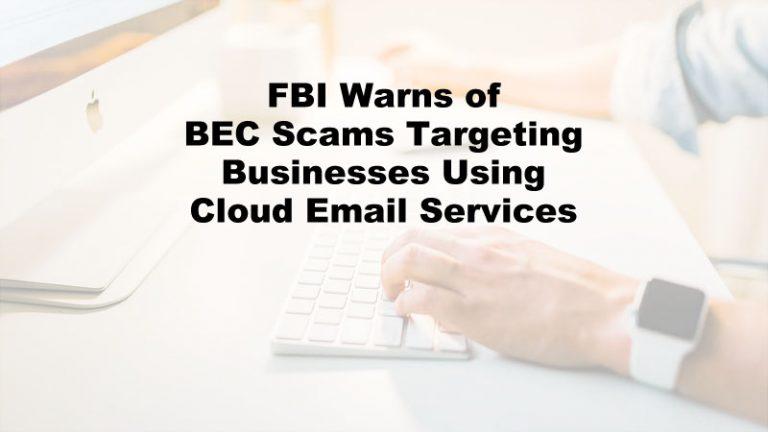 FBI BEC Scams