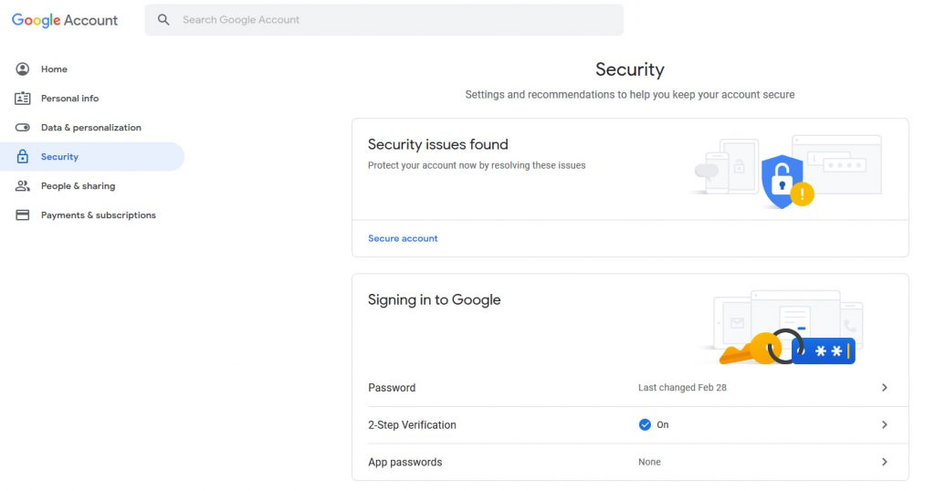 Google Account Security Apps