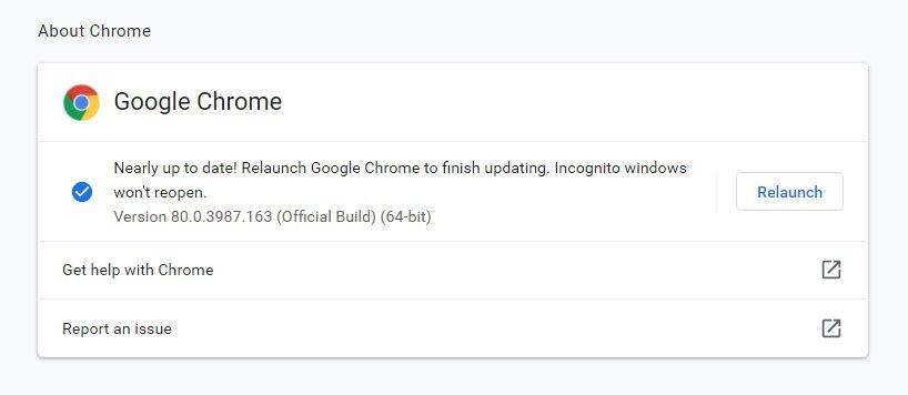 Google Old Chrome Version