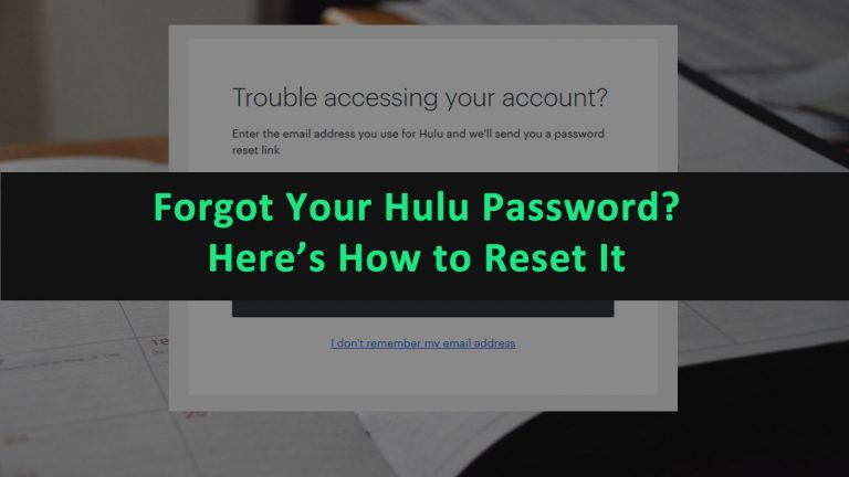 Hulu Forgot Password