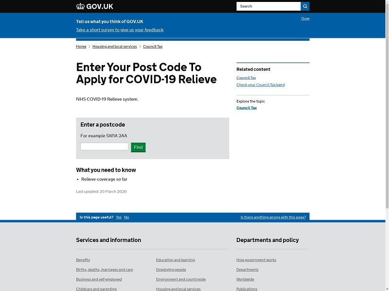 NCSC COVID-19 Phishing Spoof Website