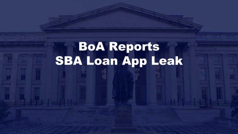 BoA SBA Loan App Leak