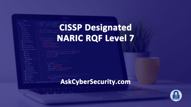 CISSP Designated NARIS RQK Level 7