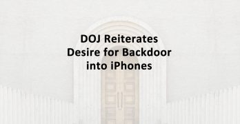 DOJ Backdoor iPhone