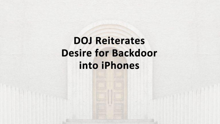 DOJ Backdoor iPhone