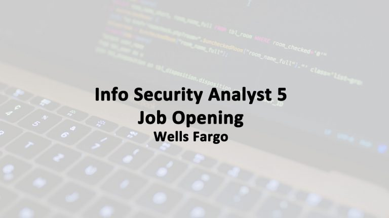Info Security Analyst 5