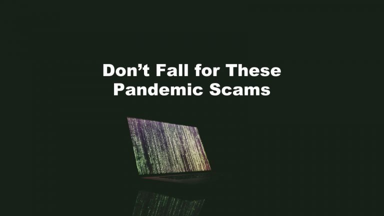 Pandemic Scams