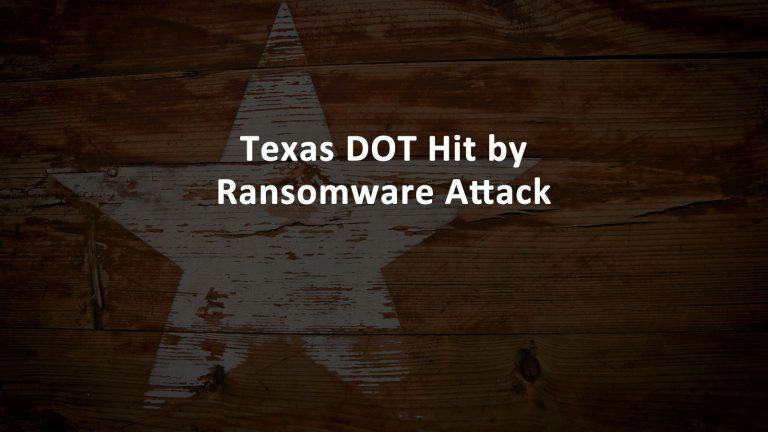 TxDOT Ransomware
