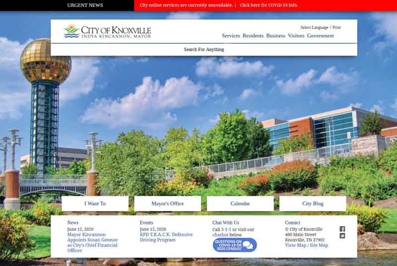 Knoxville City Website Ransomware Attack