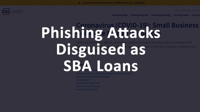 SBA Phishing Attacks