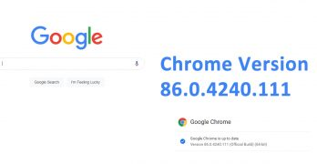 Chrome version 86.0.4240