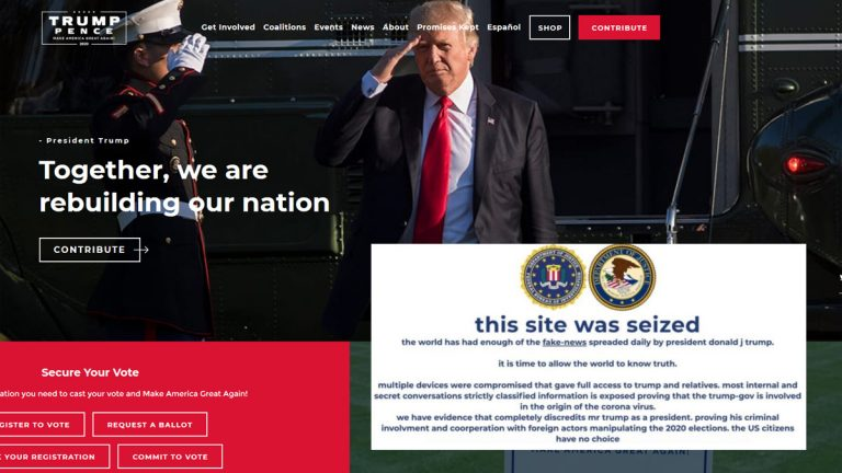 Trump Campaign Website Hackers