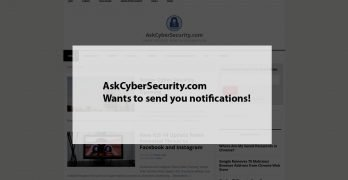 McAfee Popup Notification-