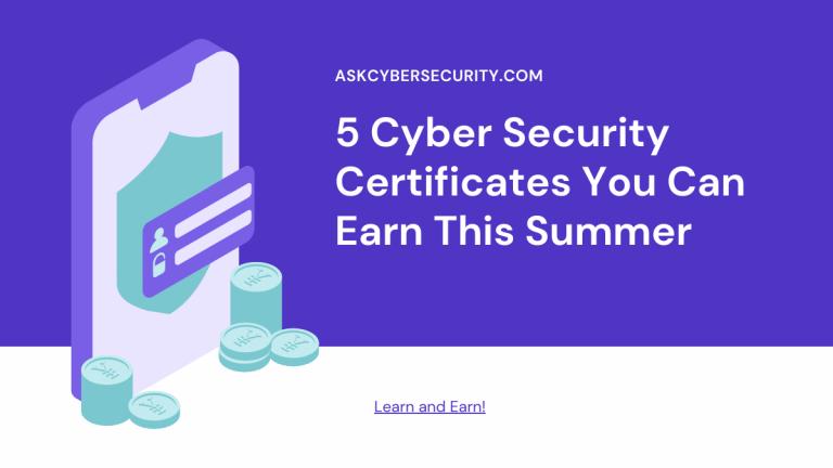 Cyber Security Certificates Earn