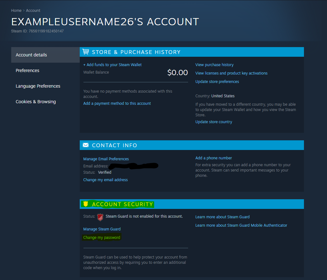 Steam Account Security