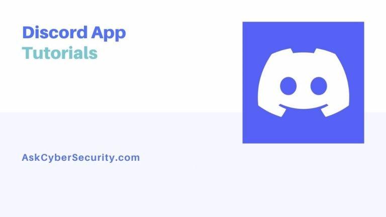 Discord App Tutotorials