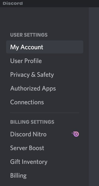Discord My Account